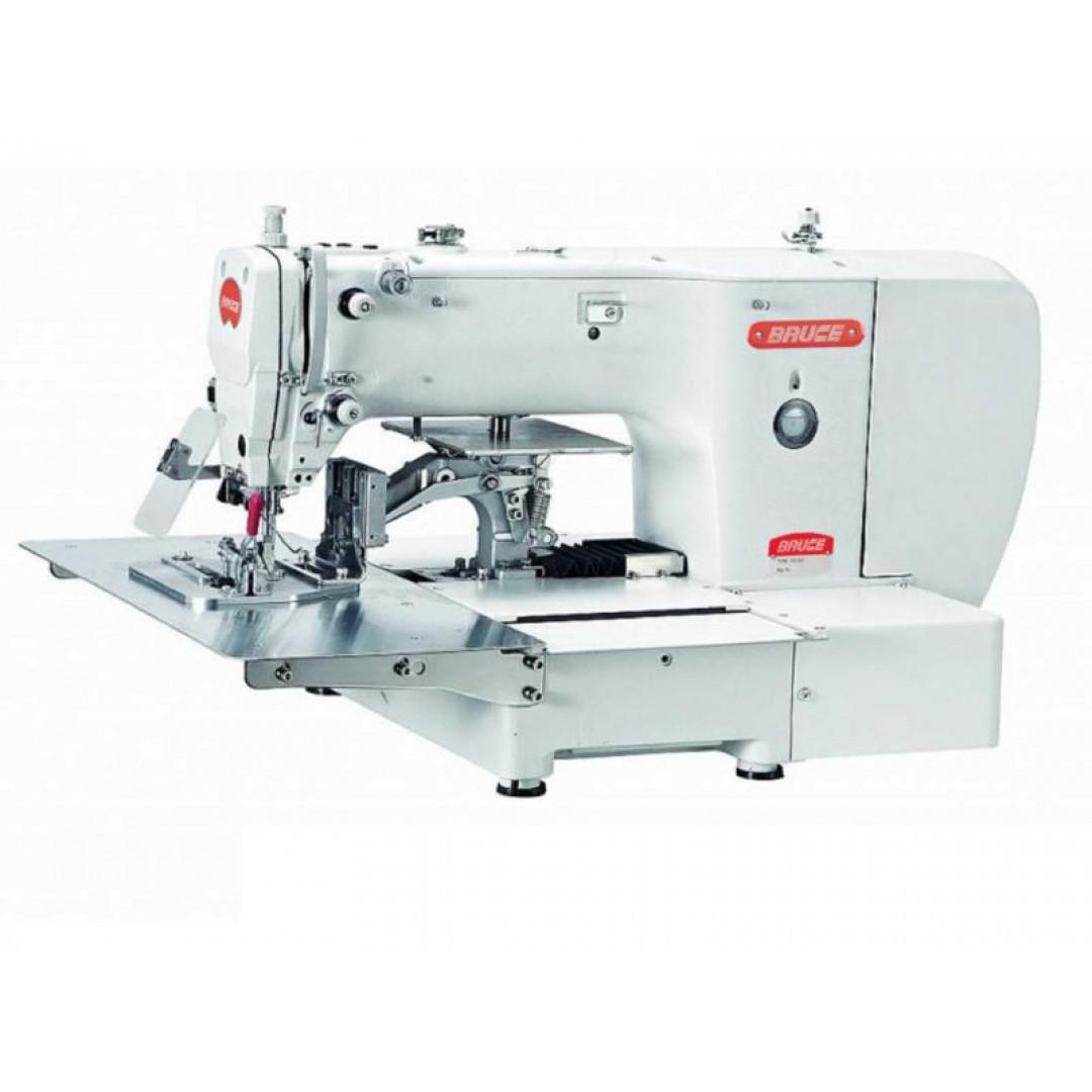 BRUCE BRC-T2210-F1-D программированная машина циклического шитья с пневматической откидной прижимной лапки для пришивания деталей по закрытому контуру с рабочем полем 220х100 мм