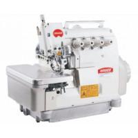 BRUCE BRC-5204D-32R2/223 високошвидкісний оверлок призначений для обробки краю виробу пікеровочним (опіковка) швом.