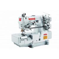 BRUCE BRC-562ADI-05CBx364 промислова плоскошовна машина с механічним дозуючим пристроєм для вшивання еластиної гумки з підрізкою края матеріалу