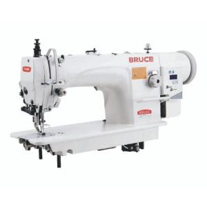 BRUCE BRC-6380BC-Q промислова 1-голкова машина для важких матеріалів з подвійним просуванням матеріалів та збільшеними човниками