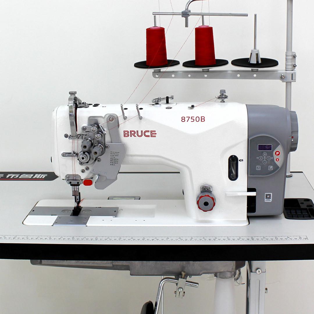 BRUCE BRC-8750B-005C промислова двохголкова машина з вбудованим серводвигуном та відключенням голок