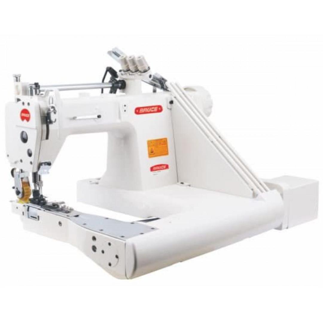 BRUCE BRC-T9280D-73-2PL -Q (1/4) 3-голкова машина ланцюжкового стібка з П-подібною платформою для важких матеріалів