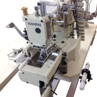 Kansai Special FX-4412P 12-голкова поясна машина ланцюжкового стібка з зубчатим пуллером, міжголкова відстань 5.0 мм