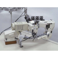 Kansai Special NFS6604GFMH-H-DD60 промышленный флэтлок для средне-тяжёлых материалов и платформой свободный рукав