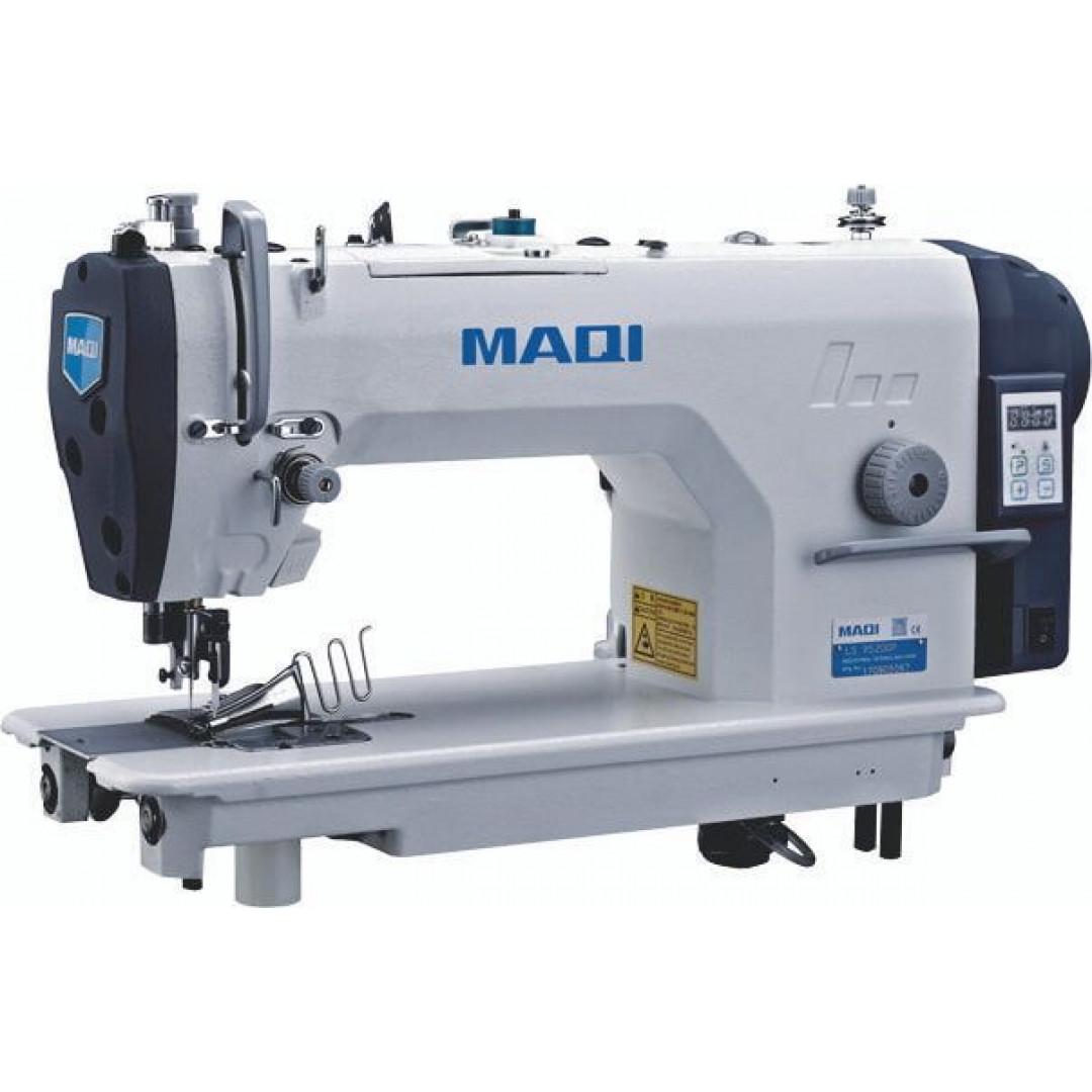 MAQI 9520DP-QB, Промислова швейна машина човникового стібка з вбудованим серводвигуном  для окантовки з підрізкою краю матеріалу
