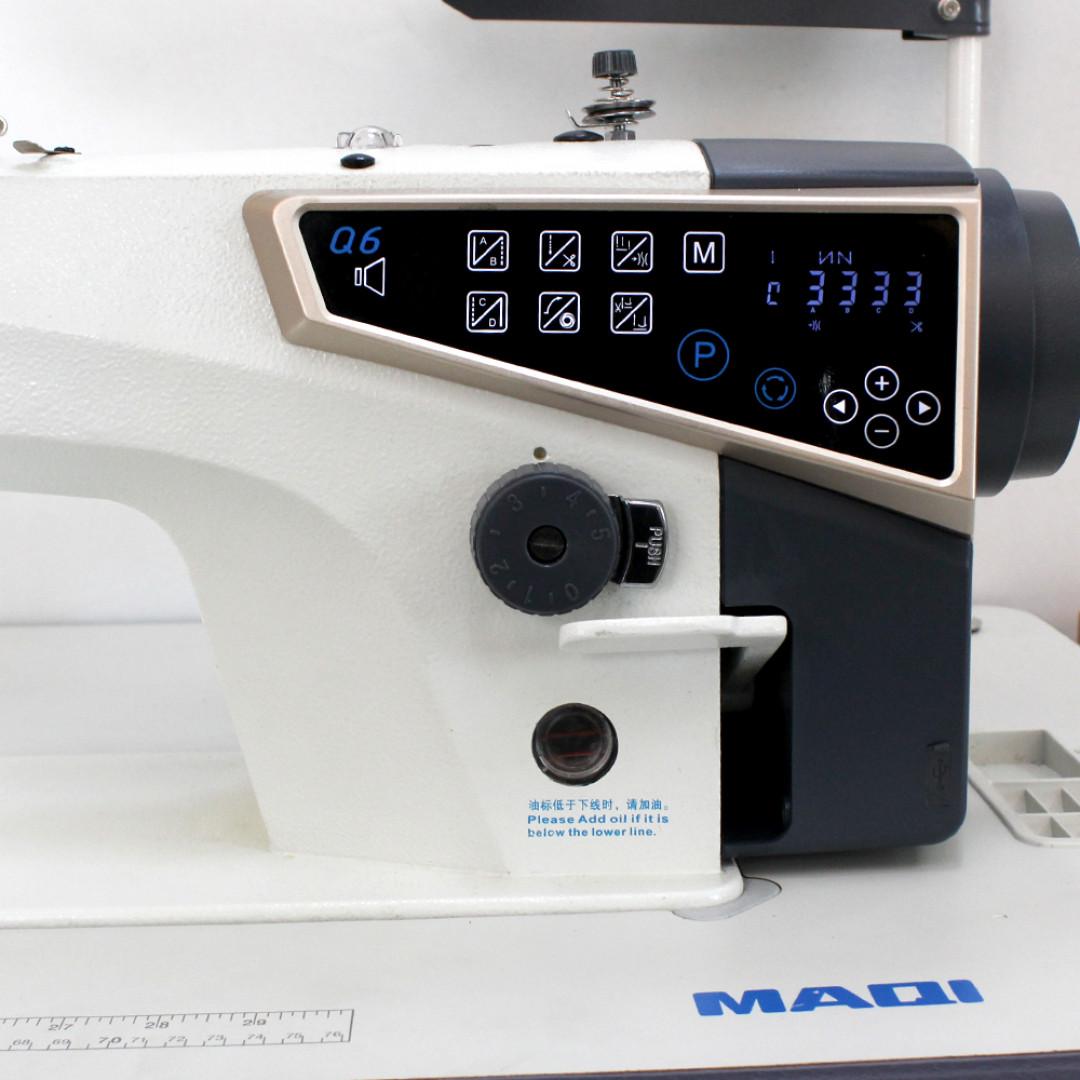 MAQI Q6-M-5N-II промышленная швейная машина с автоматическими функциями и коротким кончиком нитки после обрезки, закрытым масляным картером-6