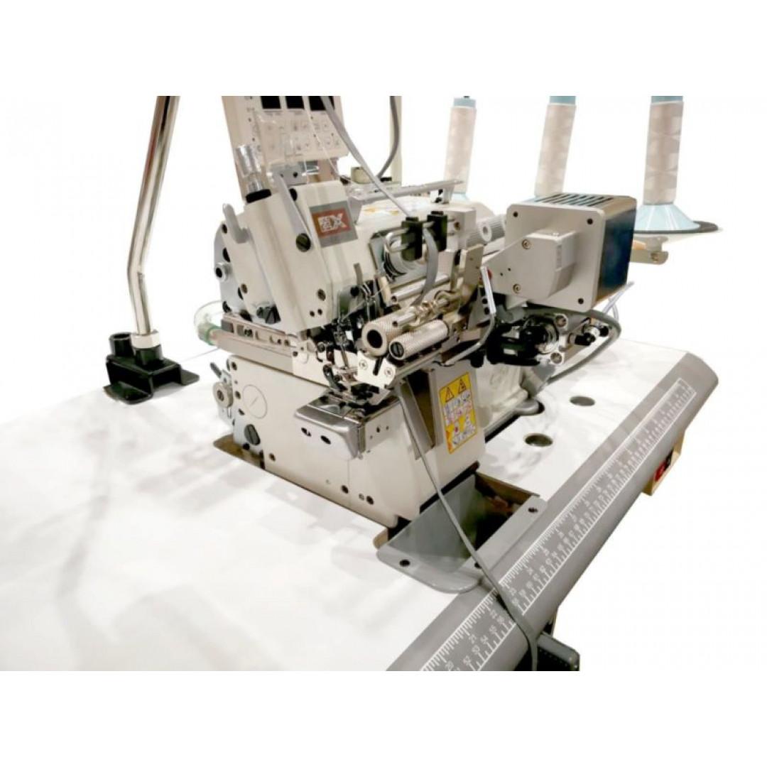 Pegasus EX5104-04/433-4 Ho-Hsing MC1 рабочее место на базе оверлока с платформой мини цилиндр и автоматическими функциями для вшивания резинки в изделие с преднатяжителем