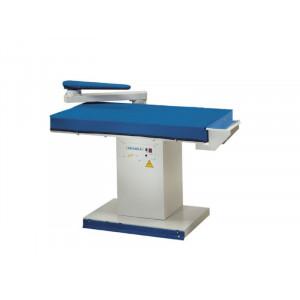 PRIMULA ECO FL+F1/C EFL прямокутний прасувальний стіл з вакуумним відсмоктуванням повітря, підігрівом робочої поверхні та рукавом