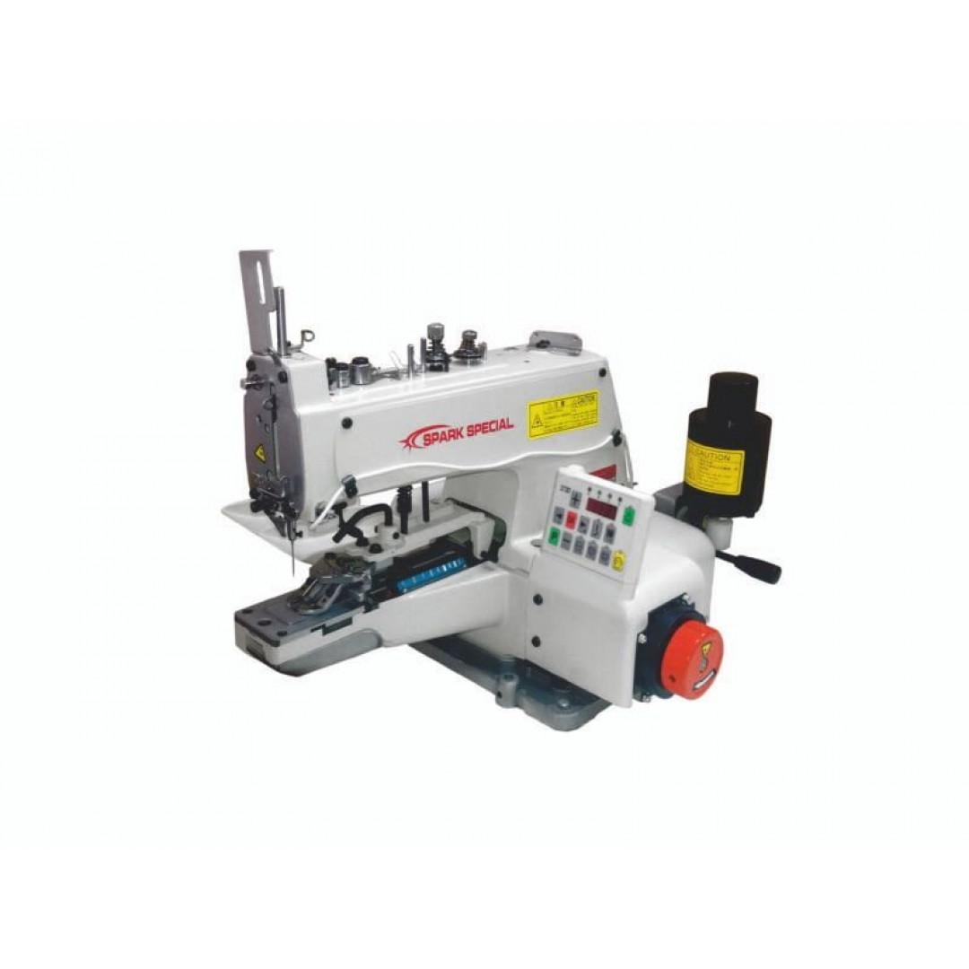 """SPARK BML 373D, промышленная пуговичная машина для пришиванния плоских пуговиц по схеме """"-"""".""""="""""""