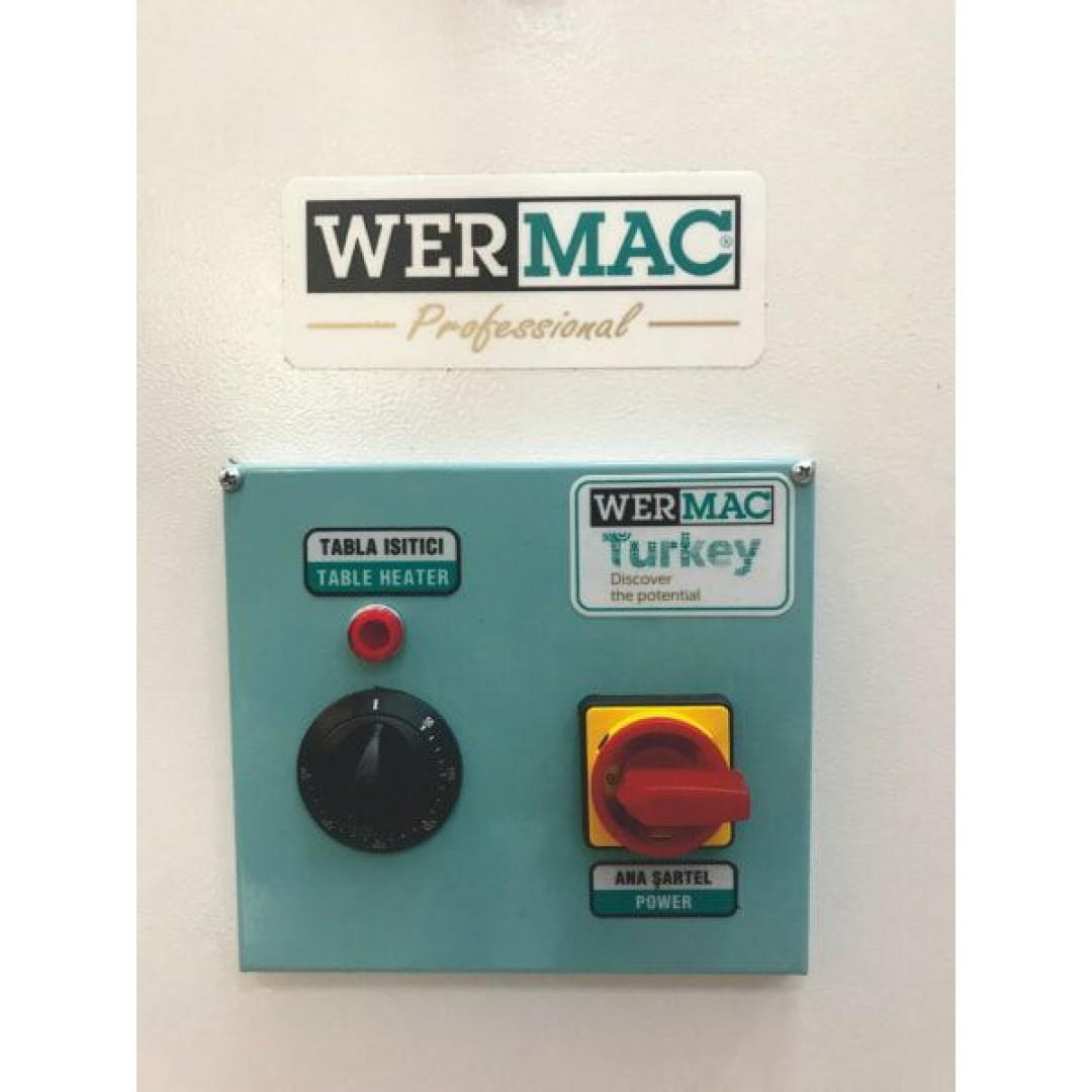 WERMAC C200 Professional, консольний прасувальний стіл з підігрівом поверхні та вакуумним відсмоктуванням повітря-5