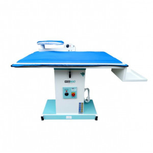 Wermac C300 Professional промисловий прасувальний стіл з підігрівом поверхні, вакуумним відсмоктуванням повітря, та рукавом