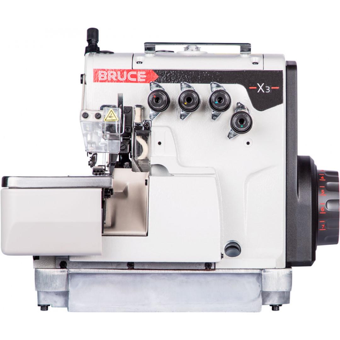 BRUCE BRC-X3-4-M2-24, 4-нитковий промисловий оверлок з вбудованим серводвигуном -2