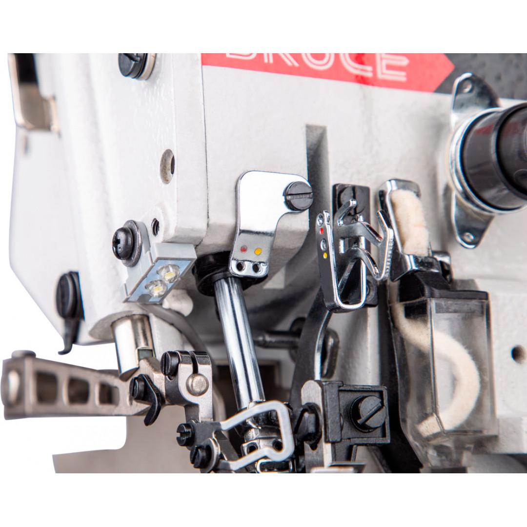 BRUCE BRC-X3-4-M2-24, 4-нитковий промисловий оверлок з вбудованим серводвигуном -4