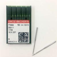GROZ-BECKERT DBx1 №100 R иглы для прямострочной машины с тонкой колбой