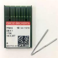 GROZ-BECKERT DBx1 №110 R иглы для прямострочных машин с тонкой колбой