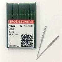 GROZ-BECKERT DBx1 №70 R голки для прямострочних машин з тонкою колбою