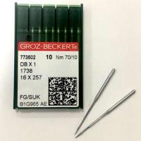 GROZ-BECKERT DBx1 №70 SUK иглы для прямострочных машин с тонкой колбой