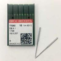 GROZ-BECKERT DBx1 №80 R голки для прямострочних машин з тонкою колбою