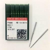 GROZ-BECKERT DBx1 №90 R голки для прямострочних машин з тонкою колбою