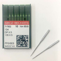 GROZ-BECKERT DPx5 №65 SES голки для прямострочних машин з товстою колбою