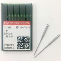 GROZ-BECKERT DPx5 №70 SES иглы для прямострочных машин с толстой колбой