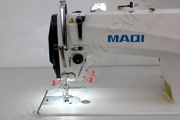 MAQI Q6-M-5N-II одноигольная промышленная прямострочная машина автомат с закрытым картером